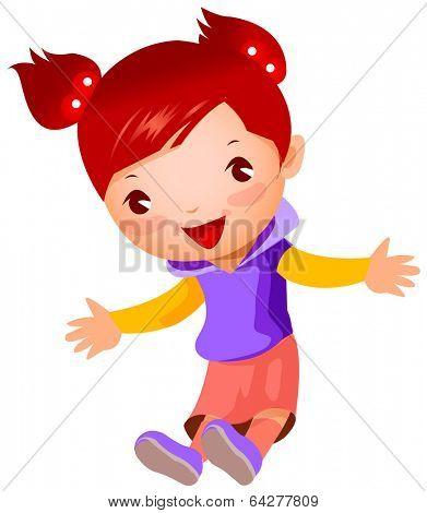 cute girl jump