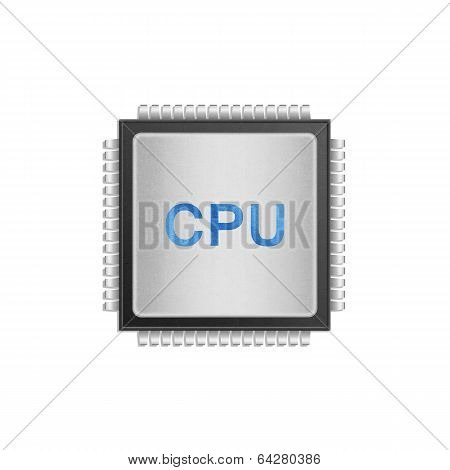 Isolated Paper Cut Of Cpu Chip Is Central Processor Technology In Circuit Computer On Motherboard
