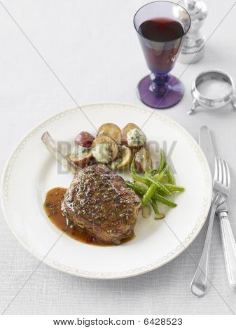 Veal Chops With Roasted Potatoes