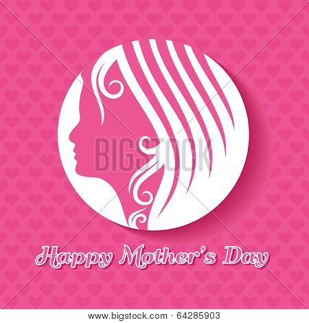 Mothers day card with face with text