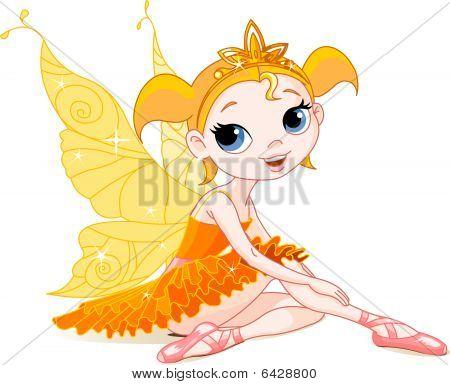 Little Ballerina orange fairy