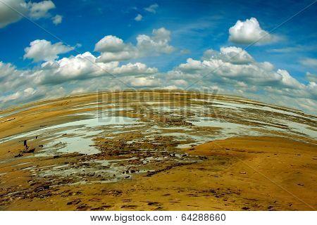 Landscape Of Ravaged Ground