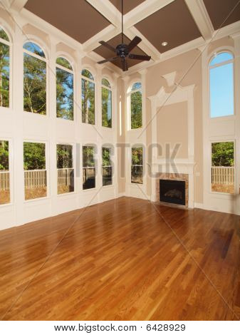 Model Luxury Home Interior Living Room With Windows