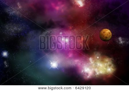 Universe - Starfield And Nebulas