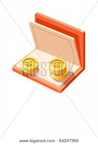 Vector Icon bankbook and money