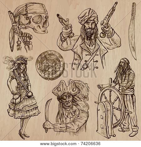 Pirates (no.5) - An Hand Drawn Vector Pack