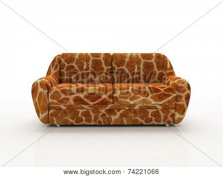 Spotted sofa with imitation under skin of the giraffe