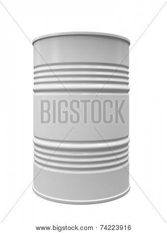 Metal barrel isolated on white background illustration