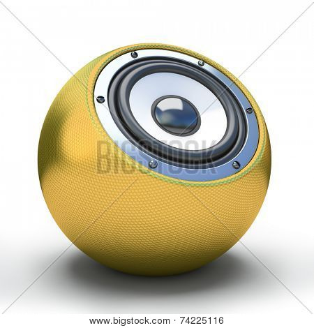 Gold spher speaker 3D