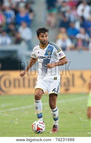 CARSON, CA - OCT 19: Baggio Husidic during the Los Angeles Galaxy MLS game against the Seattle Sounders on October 19th 2014 at the StubHub Center.