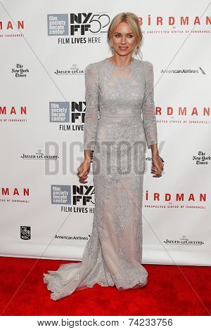 NEW YORK-OCT 11: Actress Naomi Watts attends the Closing Night Gala Presentation of 'Birdman Or The Unexpected Virtue Of Ignorance' at the New York Film Festival on October 11, 2014 in New York City.