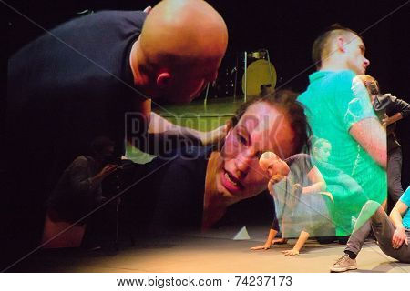 MOSCOW - OCTOBER, 1: Performance My anomaly. International Festival-School Territoria at The Theatre of Nations. October 1, 2014 in Moscow, Russia