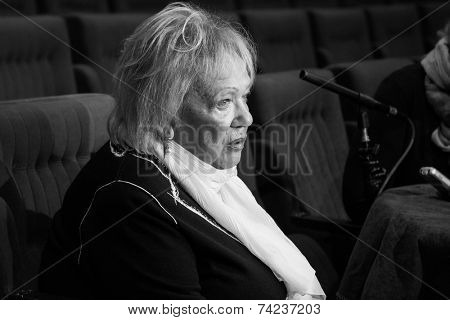 MOSCOW - OCTOBER, 1: Galina Borisovna Volchek. Opening Season. Troupe of Theatre Meeting.