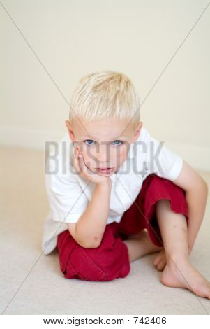 boy looking bored