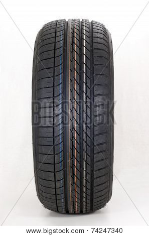 modern summer sports car tire