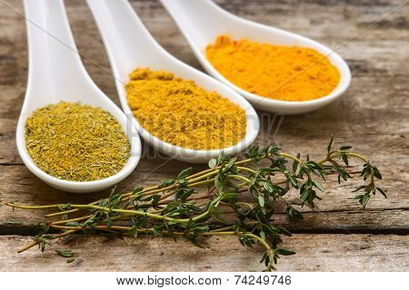 Spices Recipe Background.