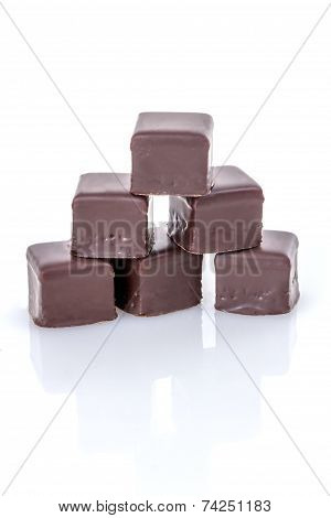 Chocolate Covered Marzipan-jelly-lebkuchen Praline