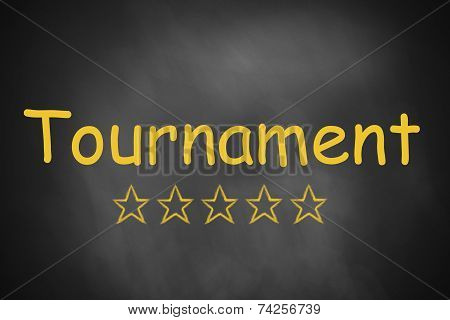 Black Chalkboard Tournament Five Stars