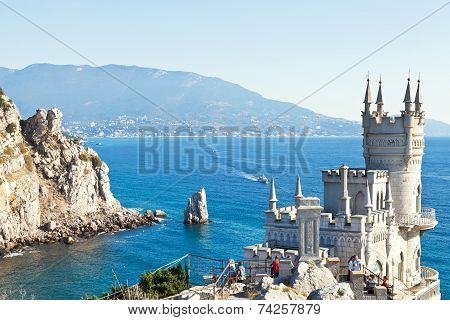 View Of Black Sea Coast With Swallow's Nest Castle