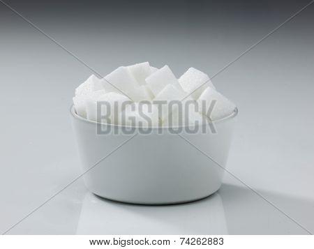 Bowl Of Cubed Sugar