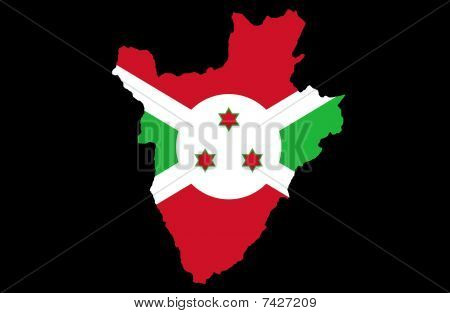 Illustration of Republic Of Burundi created with a high attention to detail. poster