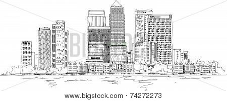 Canary Wharf business aria, London, Sketch collection