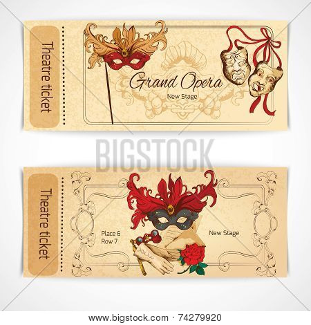 Theatre sketch tickets