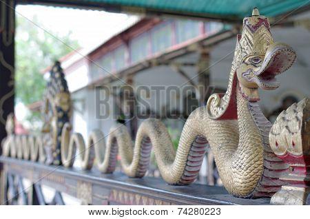 Dragon decoration in Yogyakarta Sultanate Palace
