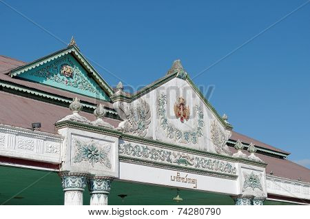 Top of Bangsal Pagelaran the front hall of Yogyakarta Sultanate Palace poster