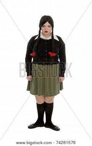 Moody Teenage Girl Character