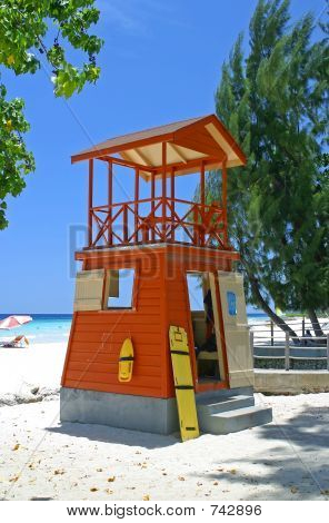 lifeguards hut