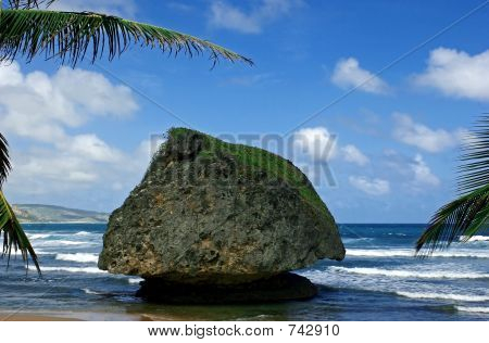 large rock at bathsheba