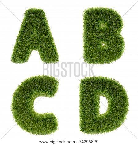 3D Grass Alphabet Series 1