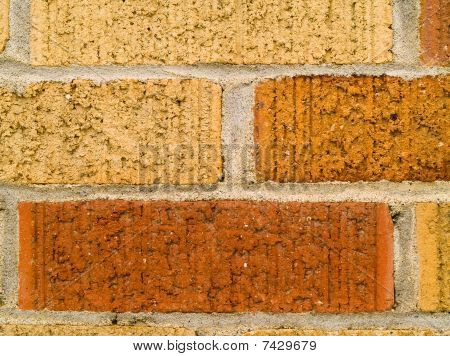 Orange, Red, And Tan Brick Wall Background