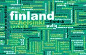 Finland Helsinki as a Abstract Concept Art poster