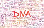 Diva Crazy Attitude as a Art Concept poster
