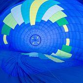 Fire heats the air inside a hot air balloon at balloon festival poster