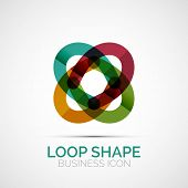 Abstract geometric symmetric business icon, logo poster