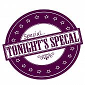 Rubber stamps with text tonight special inside vector illustration poster
