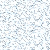 Isometric cube pattern including seamless sample in swatch panel (AI) poster
