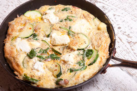Courgette, Spinach  And Ricotta Fritata