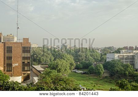 Offices and green space, Lahore, Pakistan