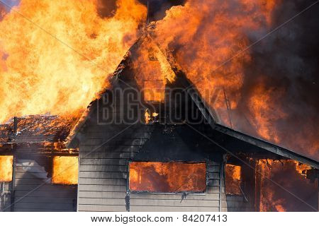 Horizontal Burning House
