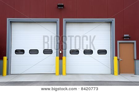 Loading Dock for Small Industrial Distribution Warehouse