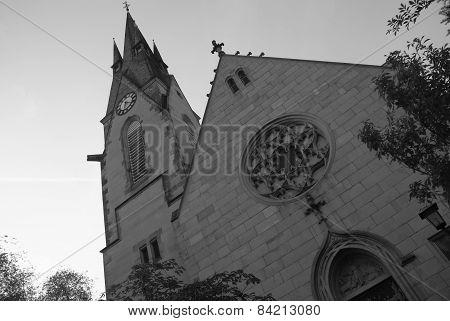 peace church of Hanau in black, white