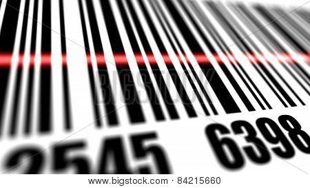 Closeup Of Scanner Scanning Barcode