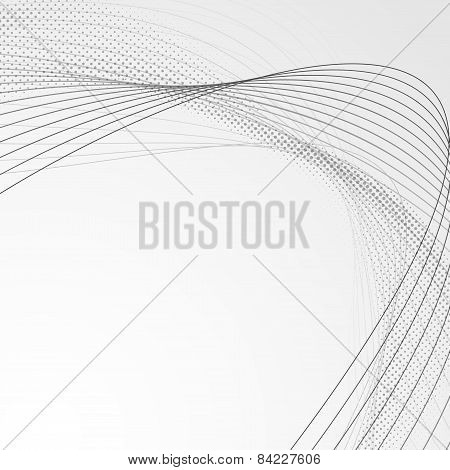 Swoosh Wave Line Abstract Modern Brochure Backdrop