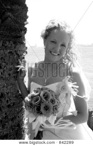 a standing bride