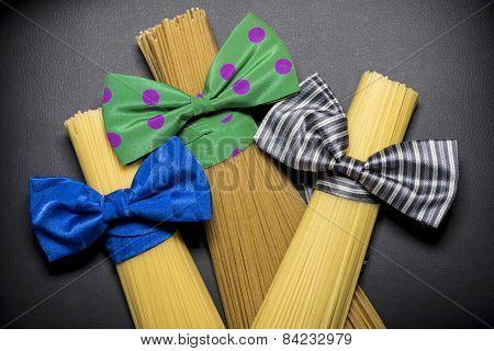 spaghetti star on a black background
