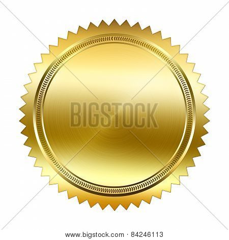 Golden Seal isolated on white background